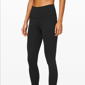 BLACK LULU LEGGINGS - high rise